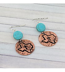 Coppertone Texas Earrings #8925E-TEXAS