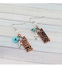 Coppertone Faith Earrings #8927E-FAITH