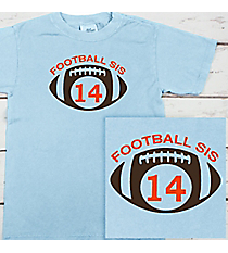 School Initials and Team Name Comfort Colors Youth Ring-Spun Cotton Tee #9018 *Personalize Your Text and Colors