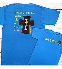 Football Cross Comfort Colors Youth Ring-Spun Cotton Tee #9018 *Personalize Your Text and Colors