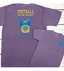 Tailgates and Touchdowns Mason Jar Monogram Comfort Colors Youth Ring-Spun Cotton Tee #9018 *Personalize It!