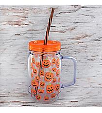 Pumpkins 16 oz. Double Wall Mason Jar #90332