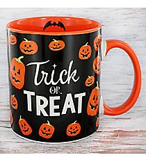 Trick or Treat Black and Orange Pumpkin Coffee Mug #90347