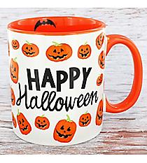 Happy Halloween White and Orange Pumpkin Coffee Mug #90347