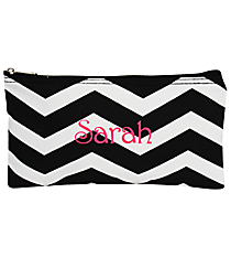 "Black and White Chevron 10"" Pouch #909-165-B/W"