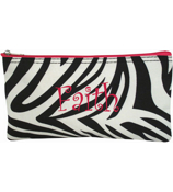 "Zebra with Fuchsia Trim 10"" Pouch #909-163-F"