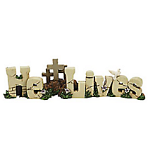 "One Resin ""He Lives"" Table Topper #92/711"