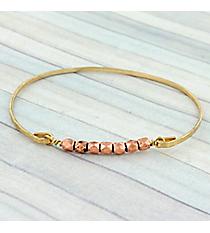 Copper Beaded Goldtone Bangle #9279B-CP