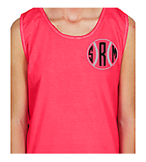 Baseball/Softball Monogram Cotton Tank Top Design SP52 *Choose Your Colors