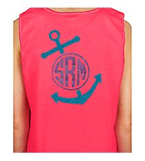 Anchor Monogram Cotton Tank Top *Customizable