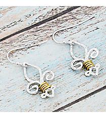 Two-Tone Fleur de Lis Earrings #9476E-FLEUR