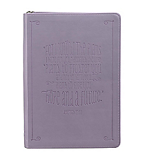 Jeremiah 29:11 Purple LuxLeather Flexcover Zippered Journal #JL153