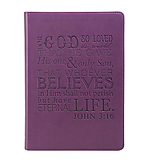 John 3:16 Purple LuxLeather Flexcover Journal #JL155