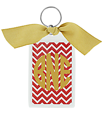 "Chevron 3"" Acrylic Keytag #979 *Choose Your Color"