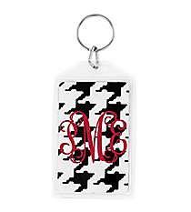 "Houndstooth Acrylic Keytag 3"" #979"