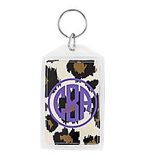 """Leopard Acrylic Keytag 3"""" #979"""