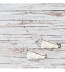 Dangling Silvertone Megaphone Earrings #9829E-SO-CHEER