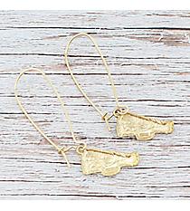 Dangling Goldtone Megaphone Earrings #9829E-WG-CHEER