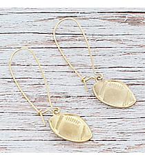 Dangling Goldtone Football Earrings #9829E-WG-FOOTBALL