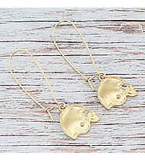 Dangling Goldtone Football Helmet Earrings #9829E-WG-HELMET