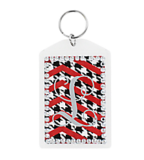 Chevron Rhinestone Accented Acrylic Keytag #984RHINE *Choose Your Color