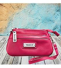 Pink 'Trust' Wristlet Coin Purse #WT092