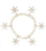 Snowflake Charm Stretch Bracelet #AB3498-SC