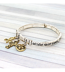 The Lord's Prayer Two-Tone Stretch Bracelet #AB7476-WTT