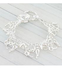 Silvertone Scroll Horse Magnetic Bracelet #AB7722H-S