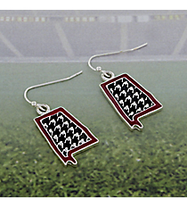 Houndstooth Alabama Earrings #AE1341-ASMX