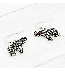Houndstooth Print Elephant Earrings #AE1534-HB