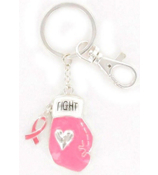 Fight Like a Girl Pink Ribbon Purse Charm or Keychain #AK0190-ASP