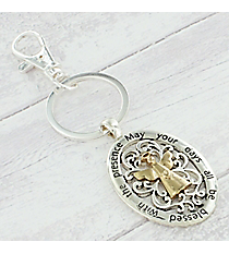 Two-Tone Angel Blessings Keychain #AK0259-TT