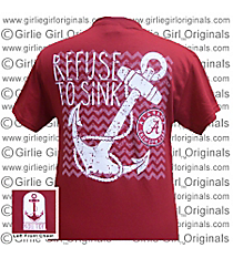 "University of Alabama ""Refuse to Sink"" Crimson T-Shirt *Choose Your Size"