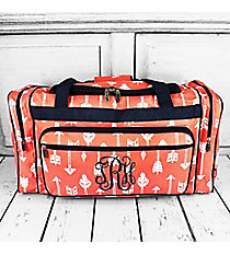 "Straight & Arrow Coral Duffle Bag with Navy Trim 23"" #ARB423-CORAL"