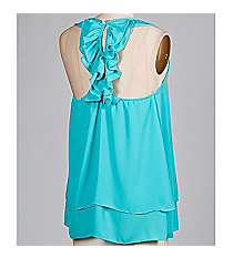 Ruffles are Love Tank, Jade #ATB8210-2 *Choose Your Size