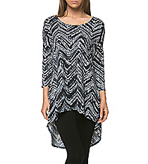 Abstract Chevron Hi-Lo Tunic #ATP-2211PS-B76 *Choose Your Size