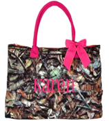 Large Shoulder Tote in Quilted BNB Natural Camo #SNQ3907-HPINK
