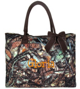 Large Shoulder Tote in Quilted BNB Natural Camo #SNQ3907-BROWN