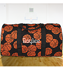 "21"" Basketball Quilted Duffle Bag #BAQ2626-BLACK"