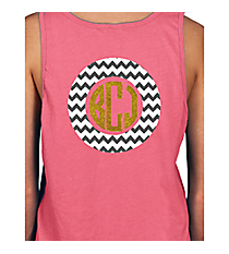 Monogram Circle Basic Tank *Choose Your Colors