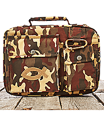 Camouflage with Fish Large Bible Cover #BBL433