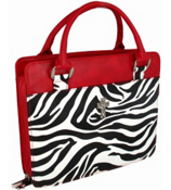 Zebra with Red Trim Purse Style Bible Cover #BBL373