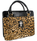 Leopard Print Purse-Style Bible Cover #BBL401
