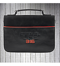 "Black ""Eternal Life 3:16"" Large Bible Cover #BBL573"