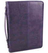 LuxLeather Purple Hebrews 11:1 Medium Bible Cover #BBM351