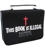 """This Book is Illegal"" Microfiber Bible Cover #BBM365"