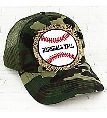 Camo 'Baseball Y'all' Trucker Cap #93272HT-BBYALL-CAMO
