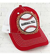 Red 'Baseball Y'all' Trucker Cap #93272HT-BBYALL-RED