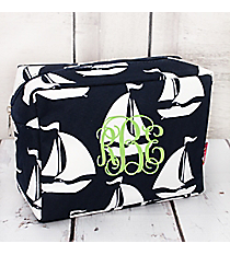 Sail Away! Sailboat Cosmetic Case #BDT613-NAVY